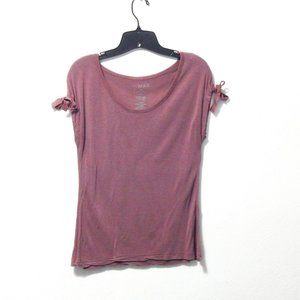 To The Max Plum Round Neck Blouse